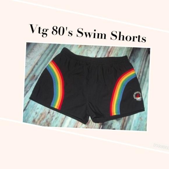 560deccc8a17c Vintage Swim | Mens Totally 80s Rainbow Shorts | Poshmark